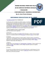REFORMAS EDUCATIVAS EN EL PER+Ü