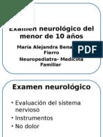 Examen neurológico del menor de 10 años