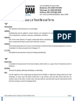 Foam Fabrication Glossary & Related Terms