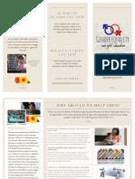 gender equality and girls' education leaflet