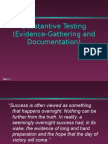 Audit Evidence and Documentation