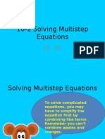 10-2 Solving Multistep Equations