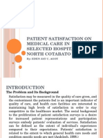 Patient Satisfaction on Medical Care in Selected Hospitals
