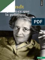 Arendt - Qu_est-ce Que La Politique