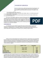 Costos Estandar y Analisis de Varianzas