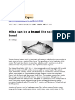Hilsa Can Be a Brand Like Salmon and Tuna!
