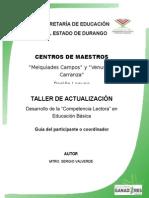 TALLER DESARROLLO DE LA COMPETENCIA LECTORA EN EDUCACIÓN BÁSICA  2015