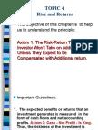 Topic 4 Risk Return