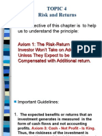 Topic 4 Risk Return