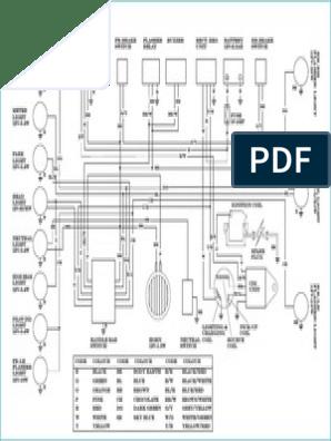 yamaha rx135 wiring diagram | light | color  scribd