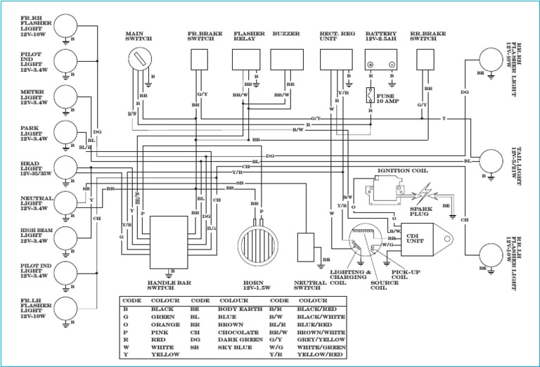 yamaha rx135 wiring diagram rh scribd com yamaha rxz catalyzer manual book Yamaha RXZ Catalyzer