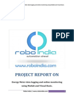 A project report on energy meter data logging and online monitoring using MATLAB and Visual Basic