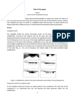 Sample Writing Paper