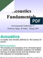 Acoustics  Fundamentals