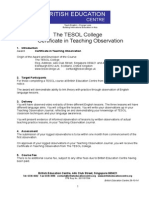 Certificate in Teaching Observation - For BEC Website NOV 2014