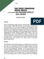 Cabaran Dan Proses Pemantapan Bahasa Melayu