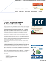 Process Simulator Effective in de-ethanizer Tower Revamp - Oil & Gas Journal