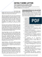 YBA Monthly News Letter for the month of August 2014