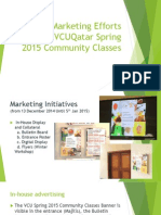 IAID Marketing Efforts for the VCUQatar Spring 2015_ver1
