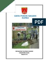 Data Pokok Nagari Kapau Lomba Nagari 2015