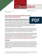 Anticorruption Enforcement Trends Aerospace Defense