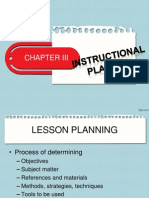 Chapter 3 Instructional Planning