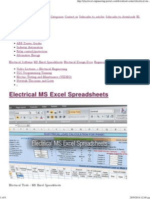 Substation Design Calculations Excel