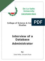 dbmsInterview a database adminstrator
