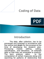 Coding of Data