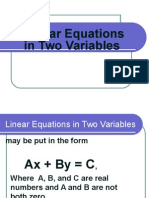 Linear Equation Two Variable