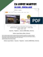 Gráficas Lopez Martos - Imprenta - Papeleria - Libreria - Albox Almanzora Almería