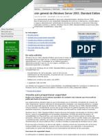 WS2003. Información General de Windows Server 2003, Standard Edition