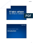 Hybris Developer Training Part II - Commerce - Module 01 - Introduction