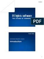 Hybris Developer Training Part II - Commerce - Module 01 - Introduction