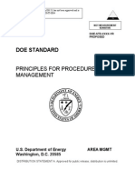 Principles for Procedure System Management