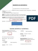 Razones Aritmética y Geométrica
