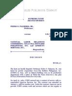 Palmeria vs. NLRC, G.R. Nos. 113290-91, 3 Aug. 1995, 247 SCRA 57 (1)