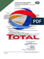 Surat Resmi Pt.total Oil & Migas Indonesia 2014.!
