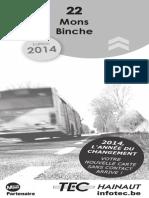 Horaire 22 Mons - Binche