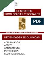 Necesidades Sicologicas y Sociales