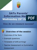 sats workshop to parents 2015
