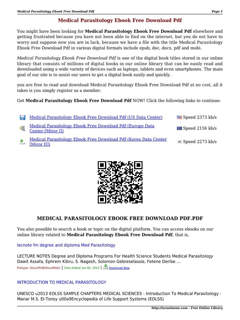 Medical Parasitology eBook Free Download PDF JpRVx   Digital