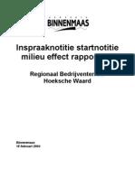 Inspraaknotitie startnotitie milieu effect rapportage
