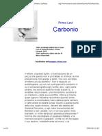 Primo Levi. Il Sistema Periodico Carbonio