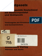Grundgesetz Für Die Bundesrepublik in Deutschland 1949-Fraktur