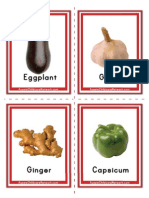Vegetables Flash Cards