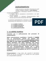 Tecniche Didattiche p. 1 e 2