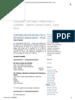 CONTABILIZACION DE MULTAS E INTERESES MORATORIOS - PCGEzacion de Multas e Intereses Moratorios - Pcge