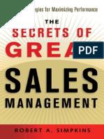AMACOM - Robert A. Simpkins - The Secrets of Great Sales Management.pdf
