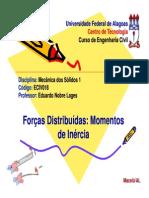 8 - Forcas Distribuidas - Momentos de Inercia